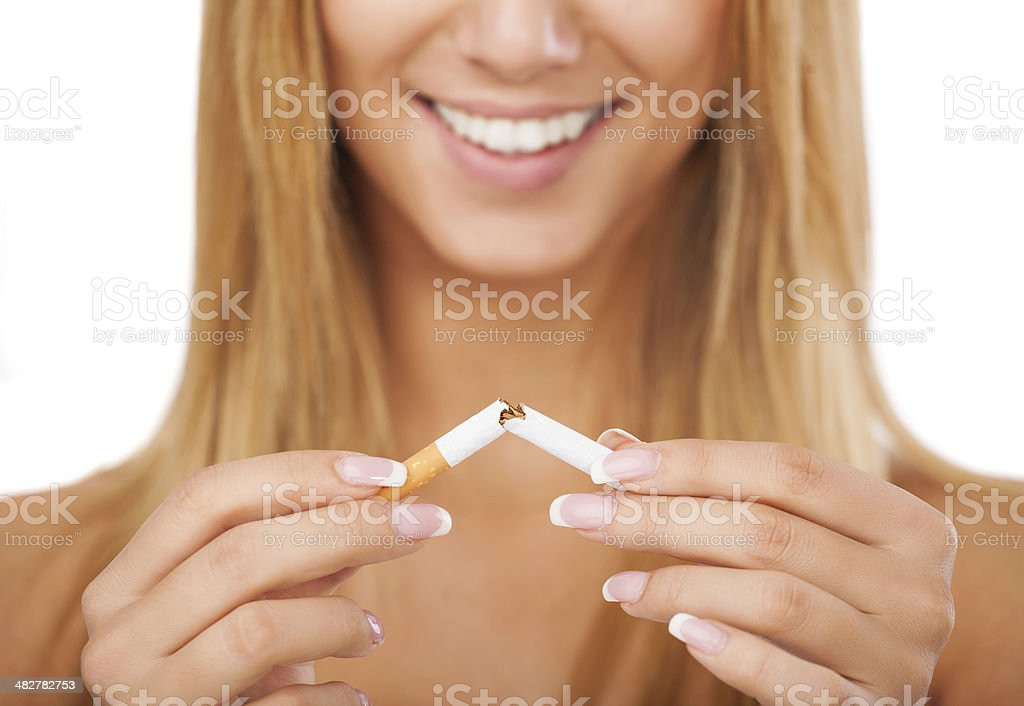 I quit smoking stock photo