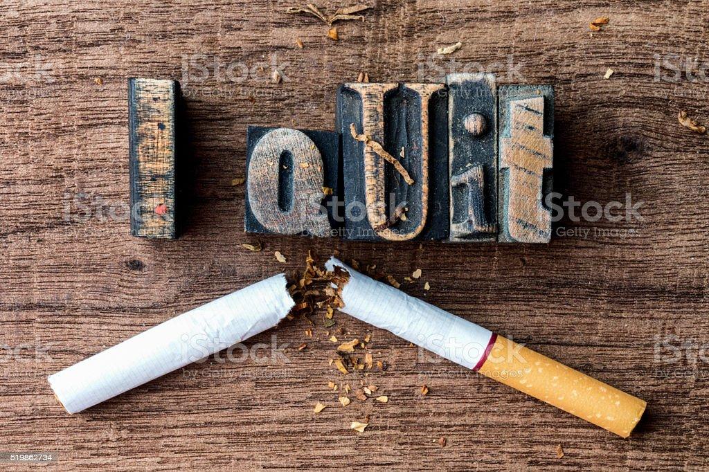 I Quit Smoking stock photo
