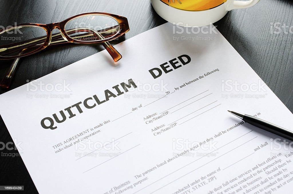 quitclaim deed stock photo