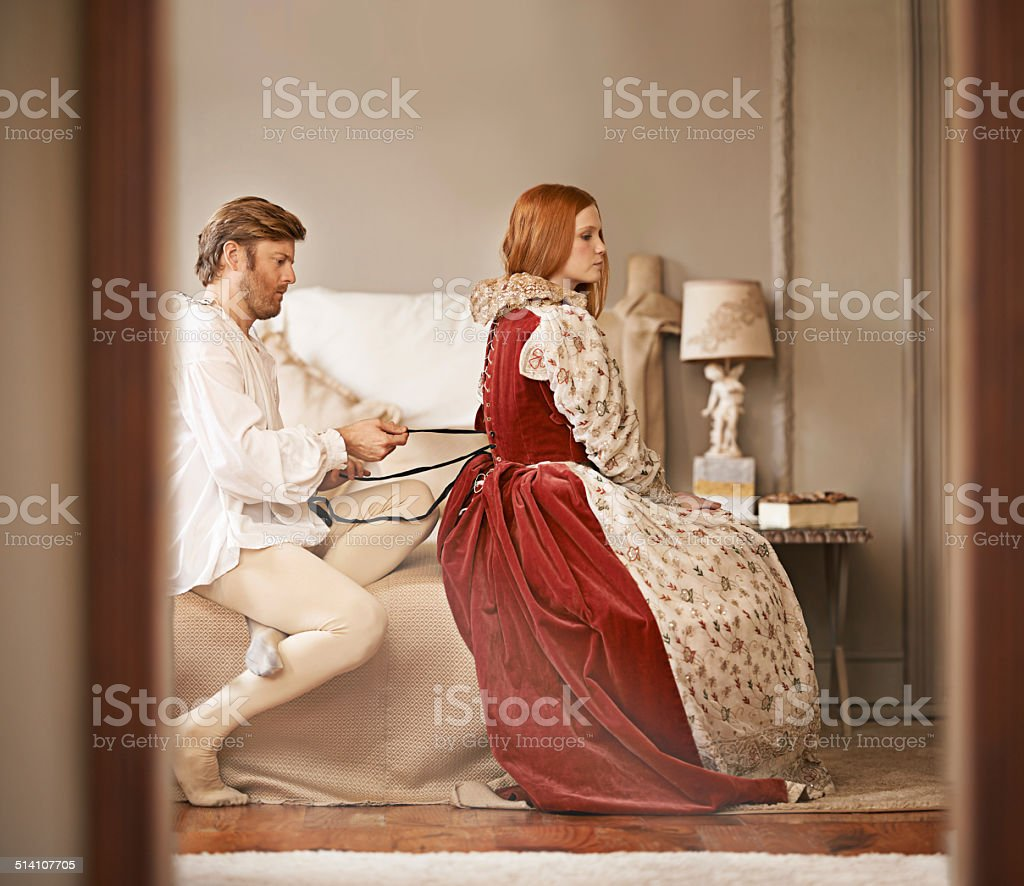 Quite the quandary this outfit! stock photo
