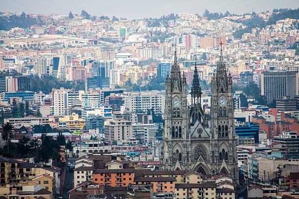 Quito Ecuador city view stock photo