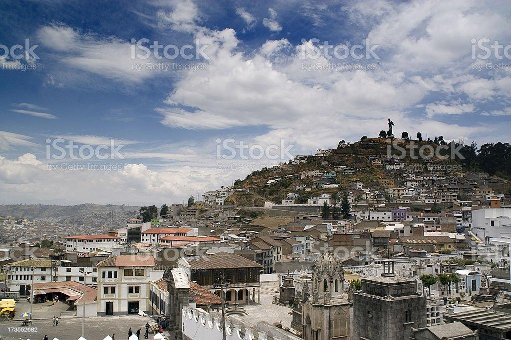 Quito: Hills stock photo