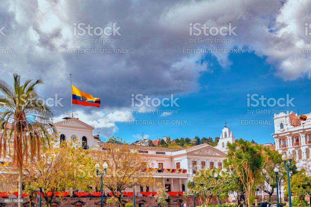Palacio presidencial de Quito Ecuador (Carondelet) - foto de stock