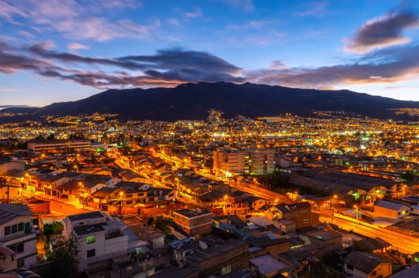 Quito Skyline, Ecuador stock photo