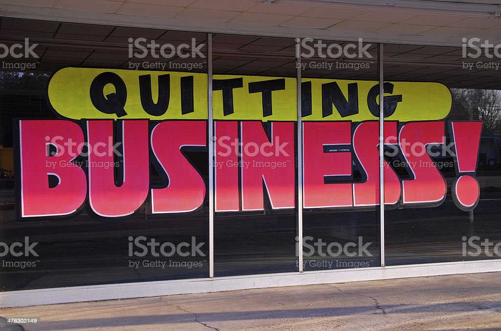 Quitting Business stock photo