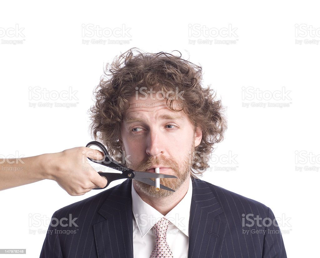 Quitting stock photo