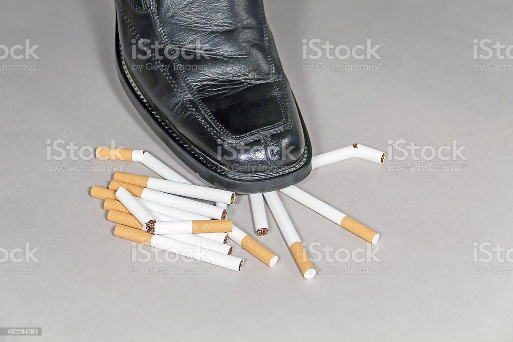 Quitting smocking royalty-free stock photo