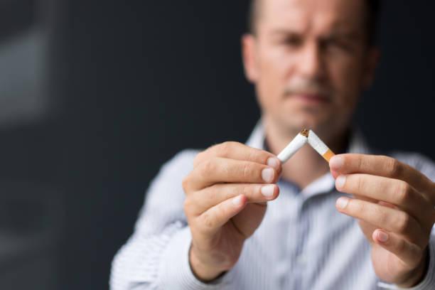 Quitting smoking habit.