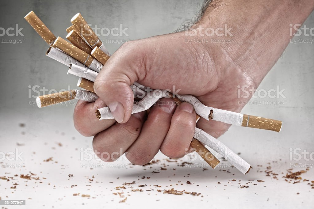 Quitting smoking stock photo
