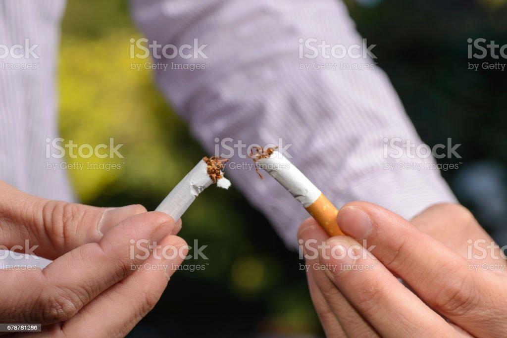 Sigara bırakma royalty-free stock photo
