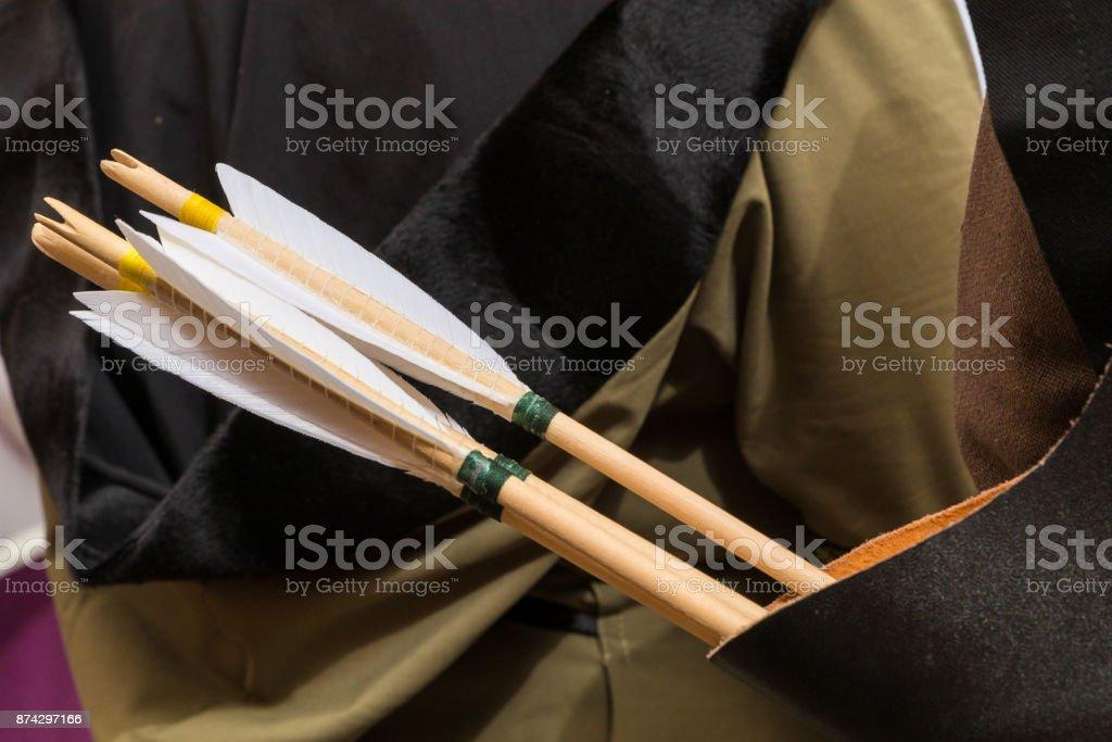 aljaba de flechas - foto de stock
