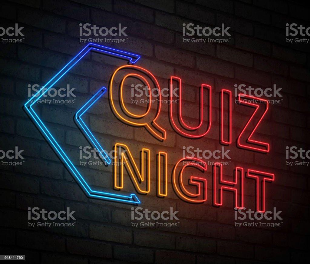 Quiz night concept. stock photo