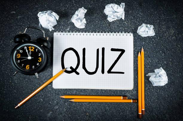 Quiz stock photo