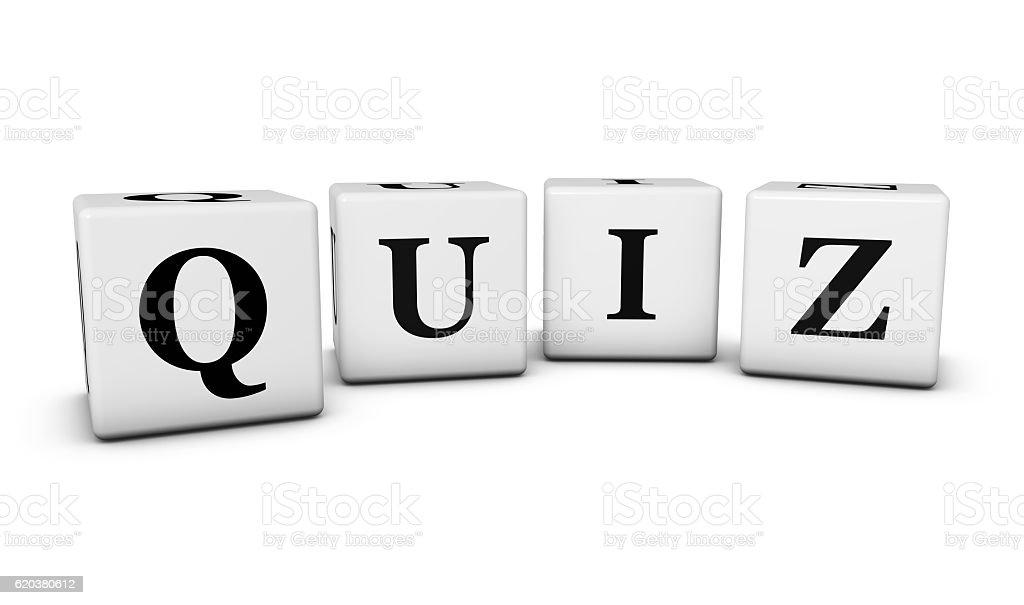Quiz Word Cubes zbiór zdjęć royalty-free