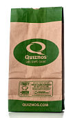 Quiznos take out paper bag