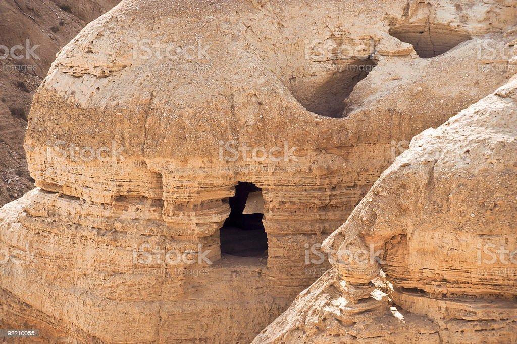 Qumran - Cave 4 stock photo