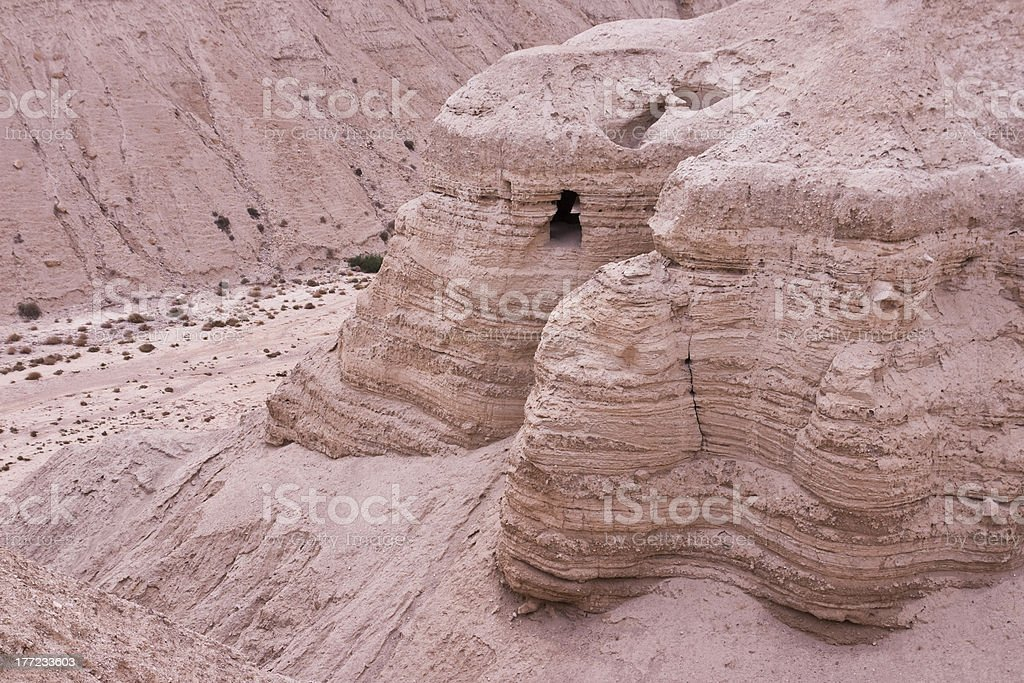 Qumran's cave stock photo