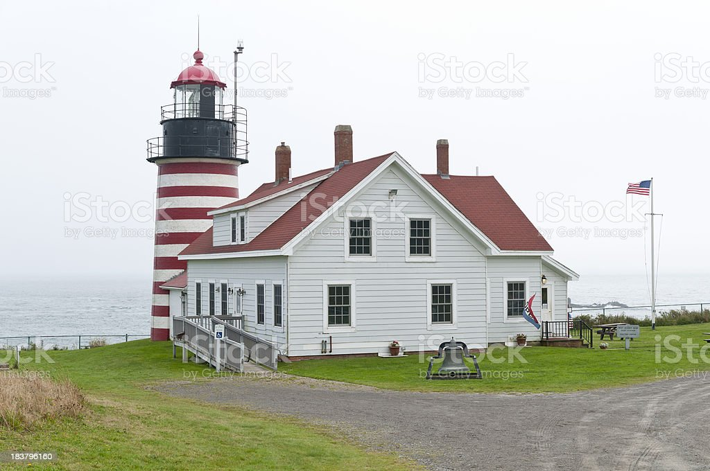 Quoddy Head Lighthouse stock photo