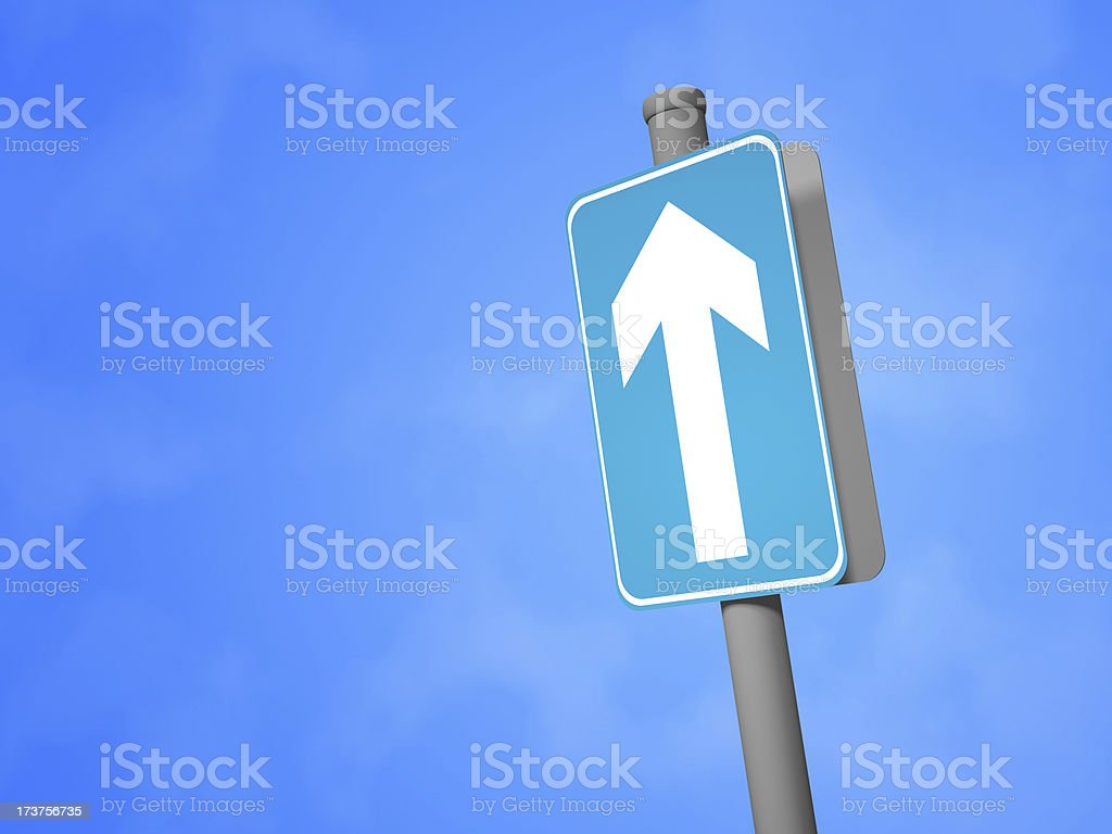 """""""Ahead Only"""" Sign royalty-free stock photo"""