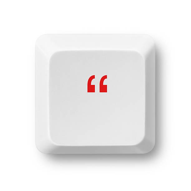 Devis mark sur une touche de clavier isolé sur blanc - Photo