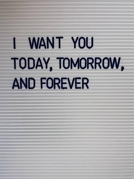 zitat liebe, ich will dich, valentine - herz zitate stock-fotos und bilder