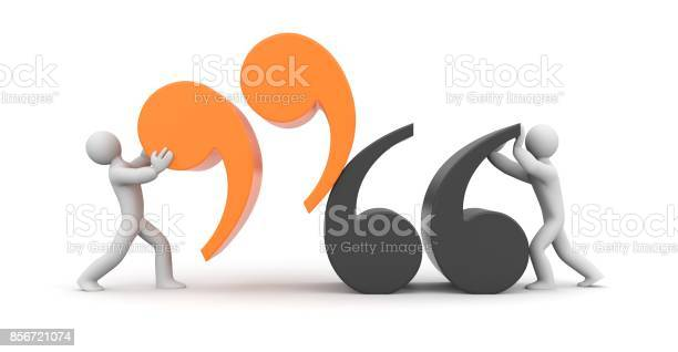 Quote people and quote symbol 3d illustration picture id856721074?b=1&k=6&m=856721074&s=612x612&h=m6dv9makrddu9cjbhqsafyny2b0l wnvz4ovz6sxbnu=