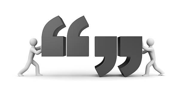 quote. people and quote symbol - komma stock-fotos und bilder