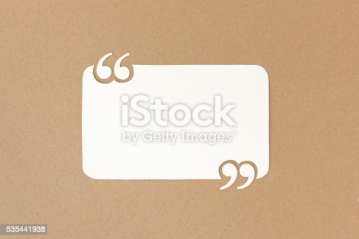 istock Quote template for customer reviews & testimonials 535441938