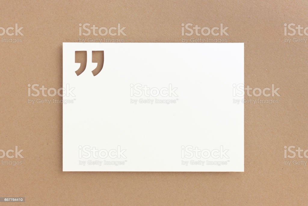 Quote template stock photo