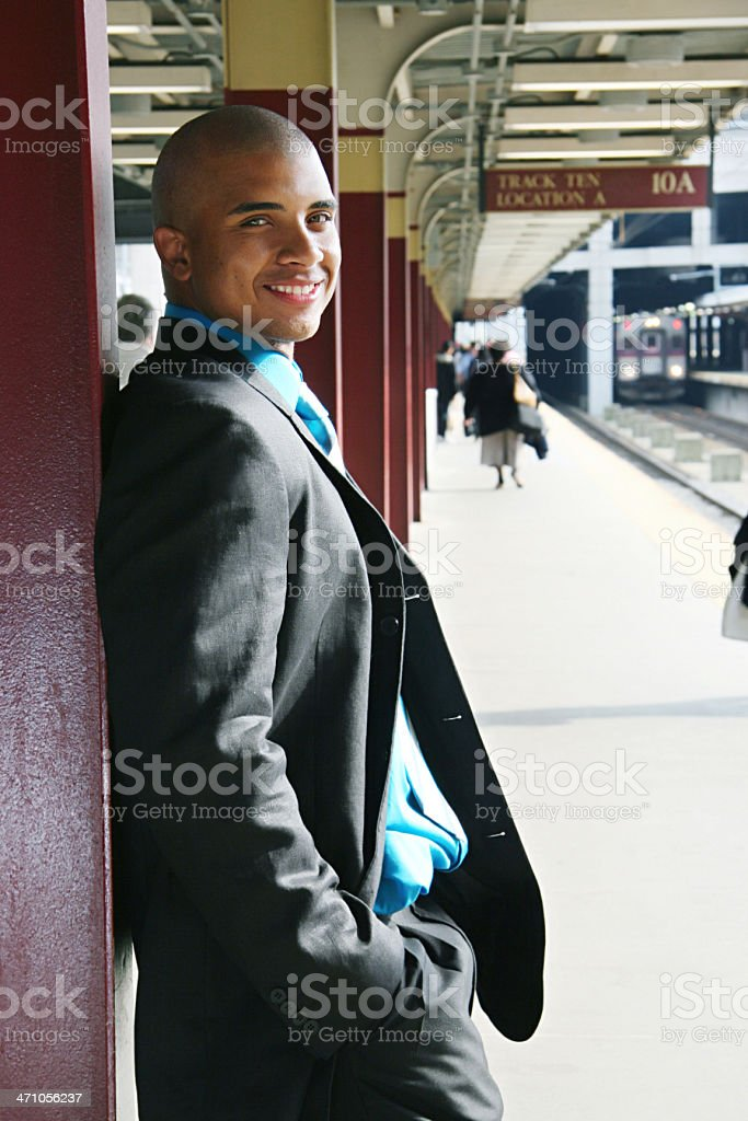 """""""Go Places"""" - African American Businessman Series royalty-free stock photo"""