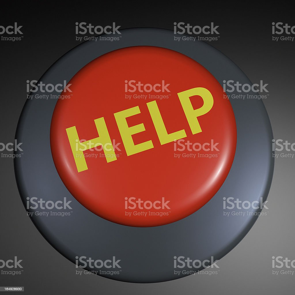 """Help"" 3D button royalty-free stock photo"