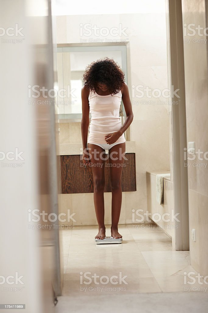 """Just a little more..."" - Anorexia/Bulimia royalty-free stock photo"