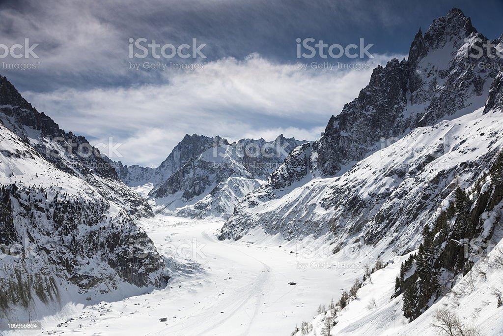 """Mer de glace"" glacier - ""Sea of Ice"", Chamonix, France royalty-free stock photo"