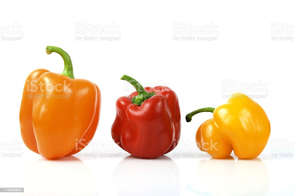"""""""mix"""" of color peppers on white royalty-free stock photo"""