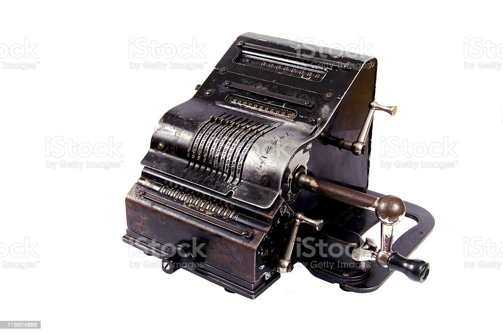 """old-fashioned calculator"" royalty-free stock photo"