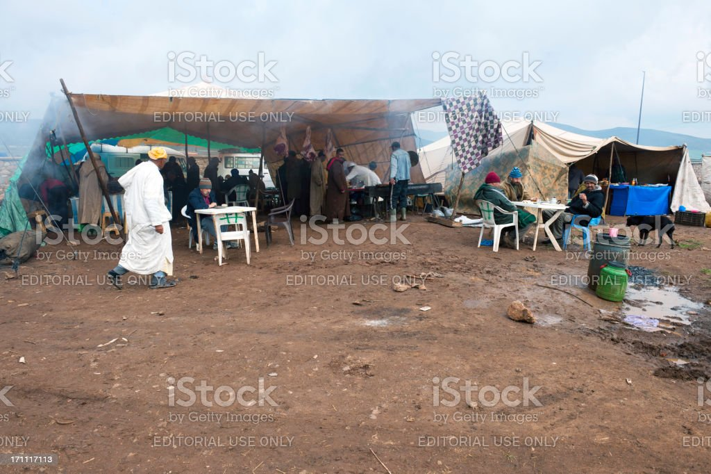 """Restaurant"" on Moroccan Market Africa royalty-free stock photo"
