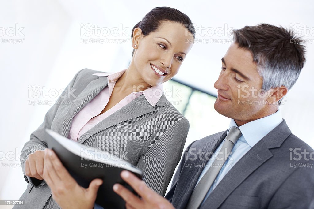 """We've done some good work here!"" royalty-free stock photo"
