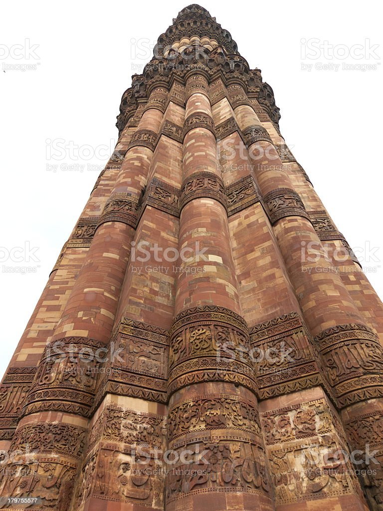 Qutab Minar minaret royalty-free stock photo