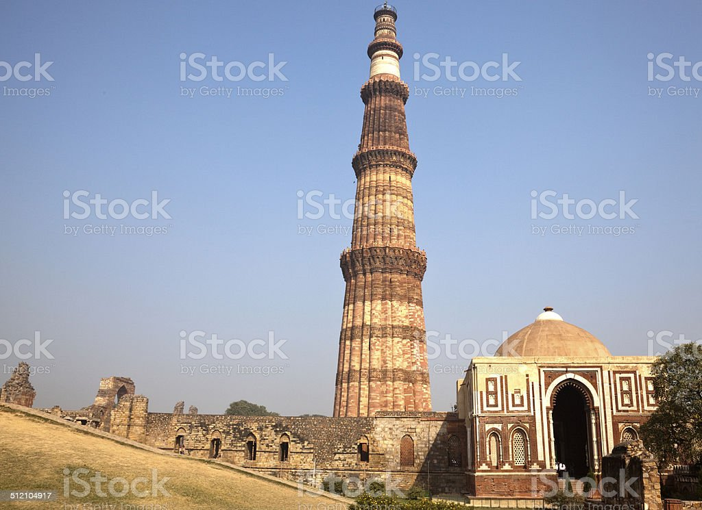 Qutb Minar, Islamic monument, Delhi, India stock photo