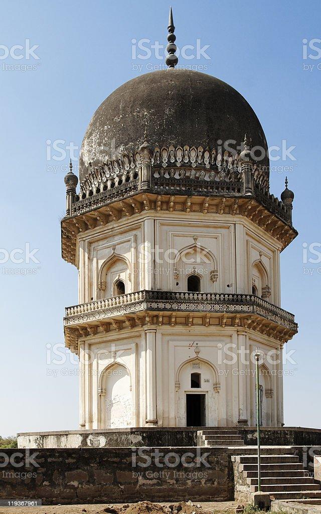 Qutb Shahi Octagonal Two Story Mausoleum stock photo