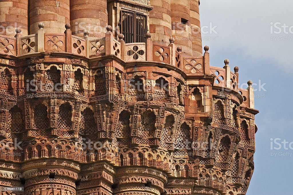 Qutub Minar close up, Delhi, India royalty-free stock photo