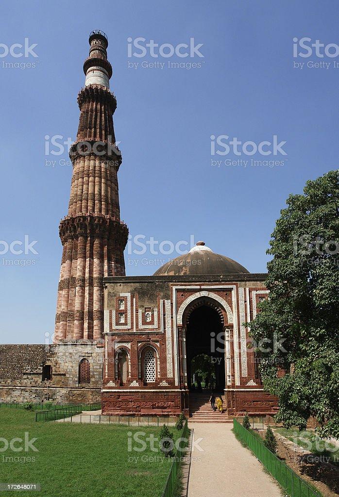 Qutub Minar, Delhi, India royalty-free stock photo