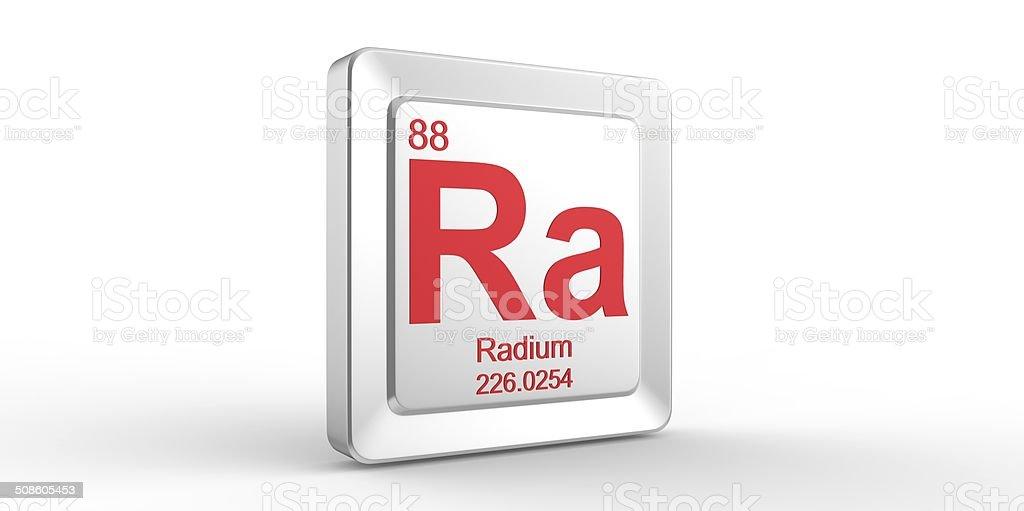 Ra シンボル 88 資料のラジウム化学素子 ストックフォト