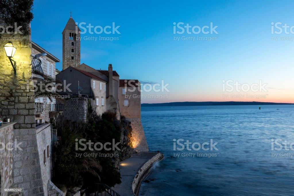 rab, croatia stock photo