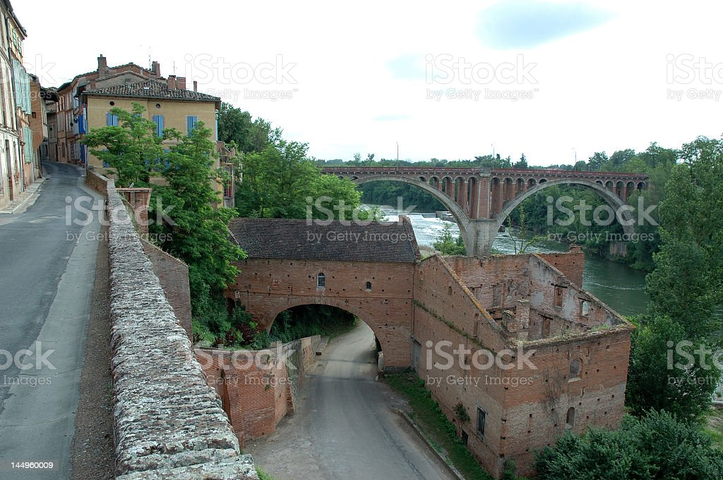 Rabastens - Overview on the Tarn River royalty-free stock photo