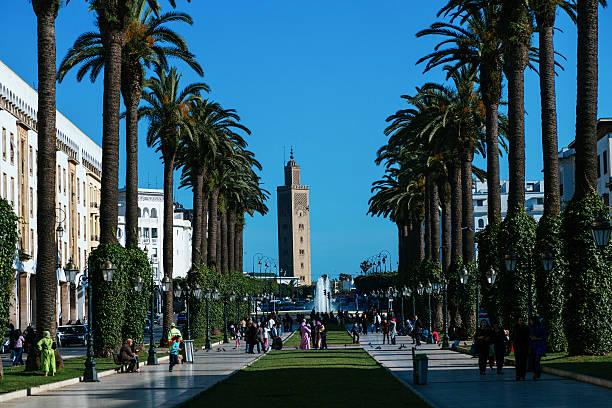 rabat, avenue mohammed v - rabat marocko bildbanksfoton och bilder