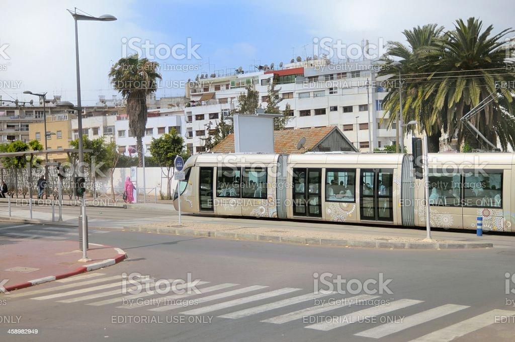 Rabat Electric Commuter Train royalty-free stock photo