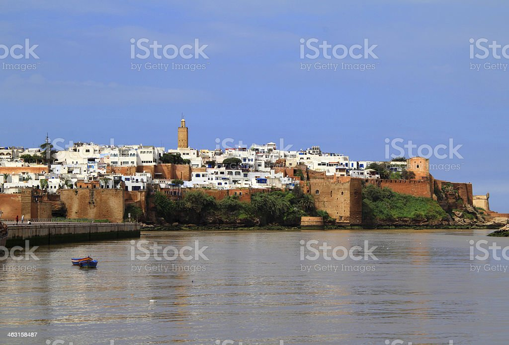 Rabat Historical Medina, Morocco. The historical Medina of the city of Rabat, capital of Morocco, viewed from the Bou Regreg River. Africa Stock Photo