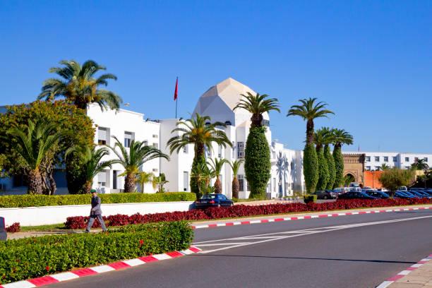 rabat, marocko, territoriet av det kungliga palatset. - rabat marocko bildbanksfoton och bilder