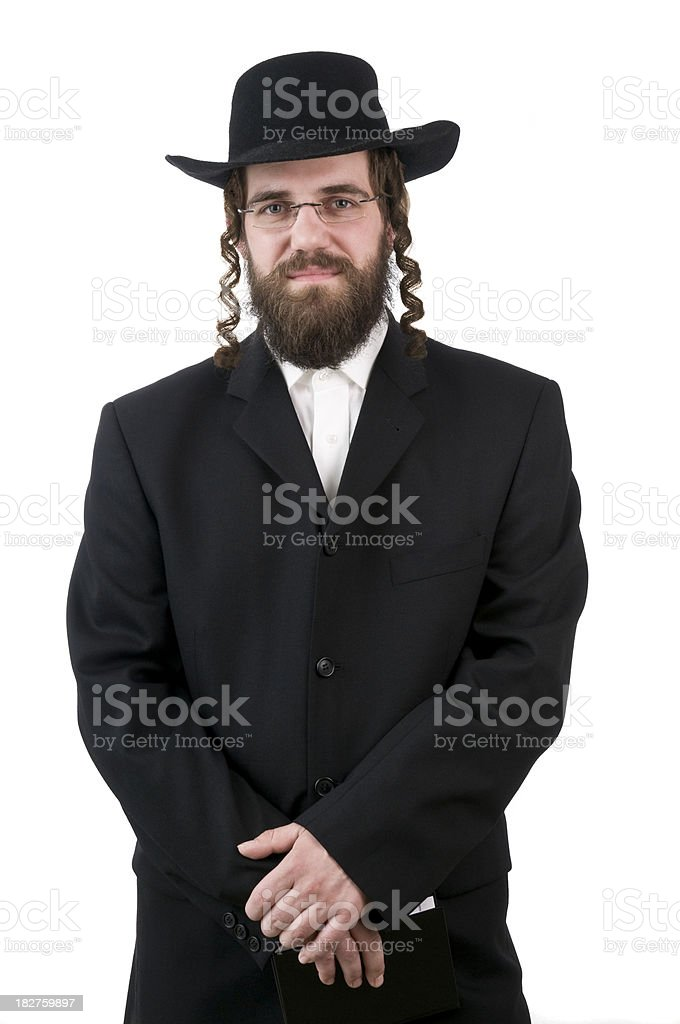 rabbi looking at camera stock photo